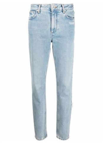 Off-White джинси з нашивкою-логотипом
