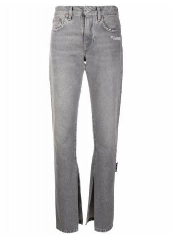 Off-White джинси з ефектом потертості