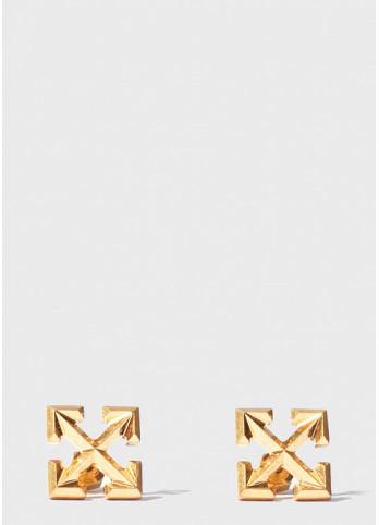 Off-White Серьги-пусеты Off-White Arrows золотистого цвета