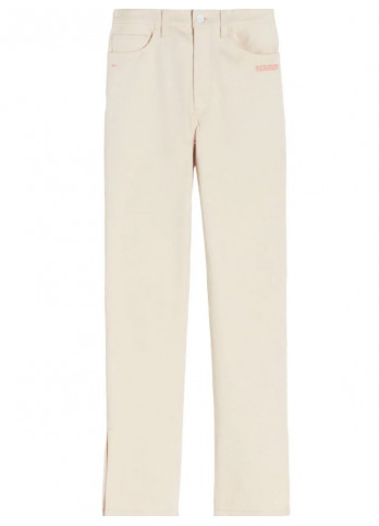 Off-White джинси із завищеною талією та розрізами
