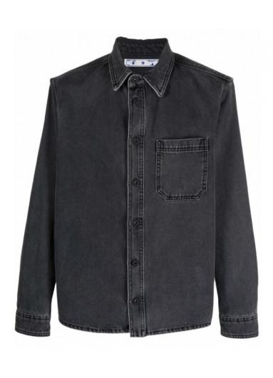 Off-White джинсова сорочка з принтом Arrows