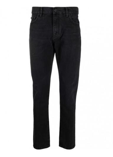 Off-White вузькі джинси із заниженою талією