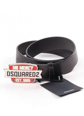 Шкіряний ремінь з логотипом на пряжці Dsquared2