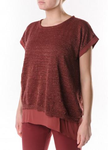 Лляний светр з коротким рукавом Panicale