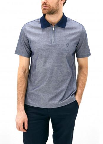 Бавовняна футболка-поло з логотипом