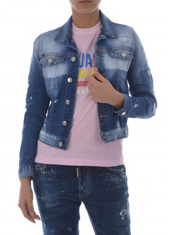 Джинсова коротка куртка Dsquared2