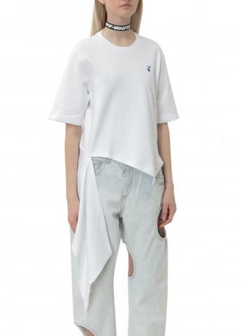 Асиметрична біла футболка Off-white