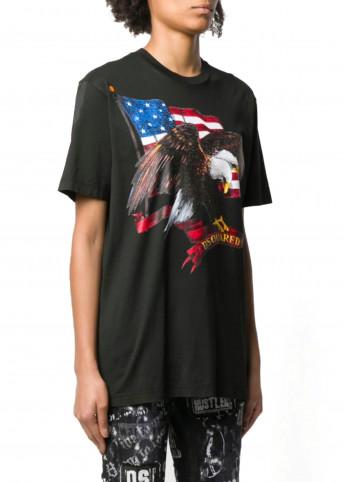 Футболка American flag Dsquared2