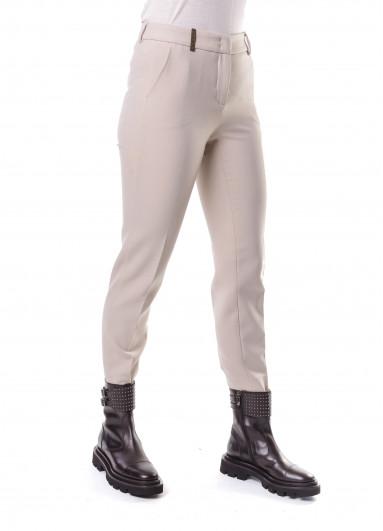 Бежеві жіночі штани Peserico