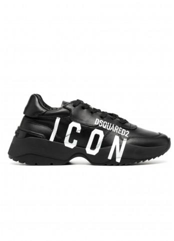Шкіряні кросівки Dsquared2 з логотипом Icon