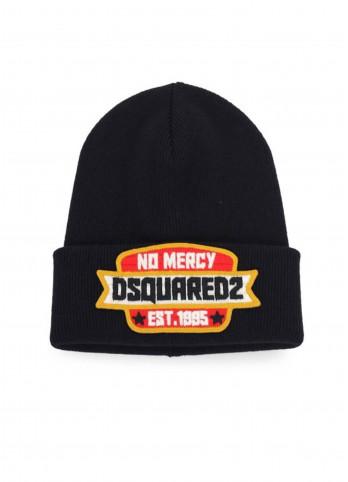 Вовняна шапка з нашивкою Dsquared2