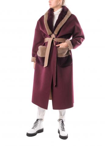 Двостороннє пальто  з натуральним хутром Suprema