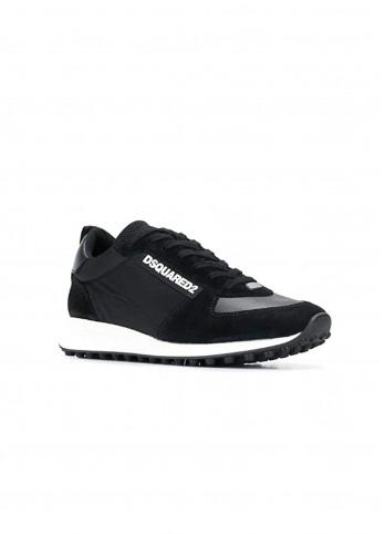 Замшевые кроссовки с тканевыми вставками Dsquared2