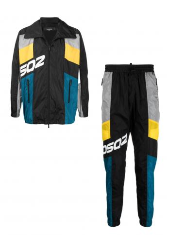 Спортивний костюм у стилі колор-блок Dsquared2