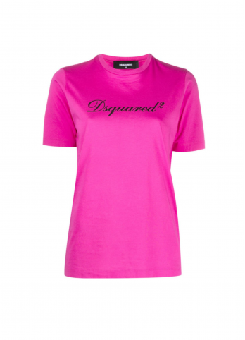 Рожева футболка з логотипом