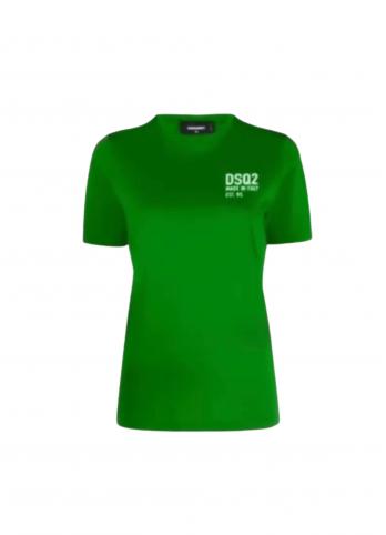 Жіноча футболка з логотипом Dsquared2
